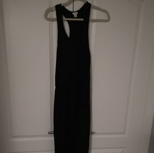 JCrew black maxi dress with racer back in xs